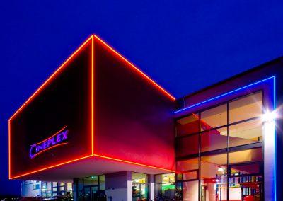 Cineplex Memmingen bei Nacht
