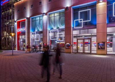 Cineplex Leipzig nachts